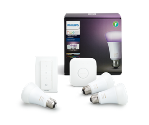 929001257361 - Philips Hue White and Color Ambiance Starter Kit, 3 x E27 inkl. Schalter und Bridge