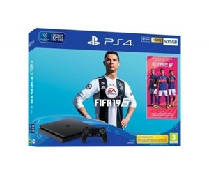 9743712 - Sony PlayStation 4 Slim Black - 500GB (Fifa 19 Bundle)