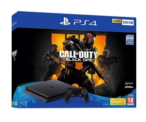 711719758716 - Sony PlayStation 4 Slim Black - 500GB (Call of Duty: Black Ops 4 Bundle)