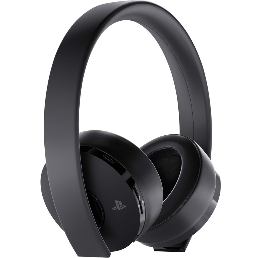 sony ps4 new official gold wireless headset 7 1 black. Black Bedroom Furniture Sets. Home Design Ideas